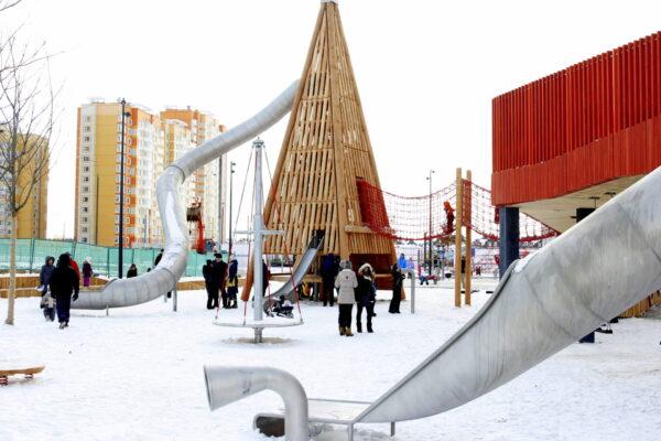 Игровая площадка «ПИРАМИДЫ» в ЖК «Бунинские Луга»